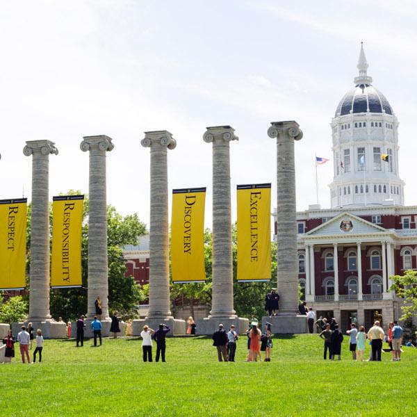 The Columns, located on Francis Quadrangle on the Mizzou campus.
