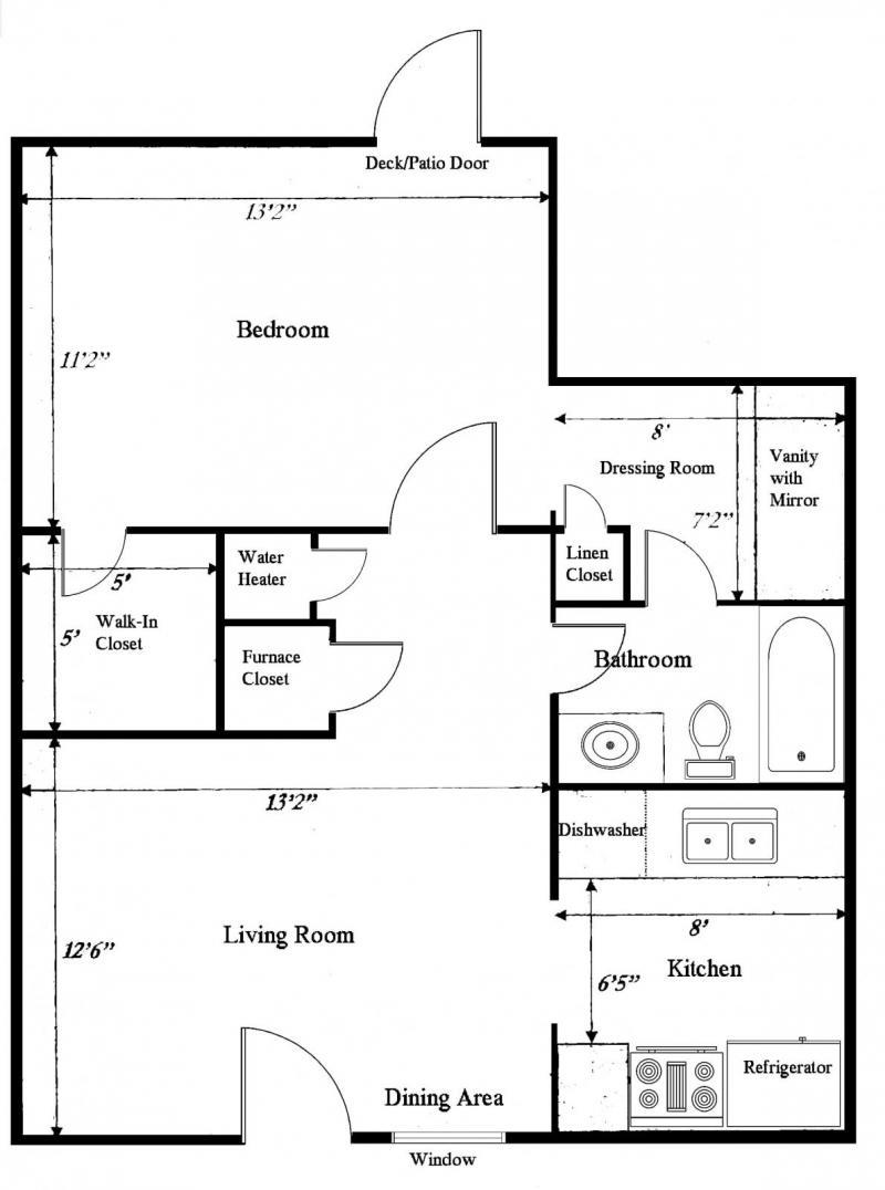 Plan Dressing En U tara apartments | residential life